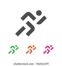 Sport Logo Template. Running Sportsman Logotype. Runner Emblem. Vector