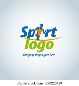 Sport logotype template, sports club, running club and fitness vector logo design template