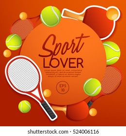 Sport Lover : Sport Equipment Elements : Vector Illustration