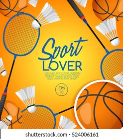 Sport Lover : Sport Equipment Elements : Vector Illustration