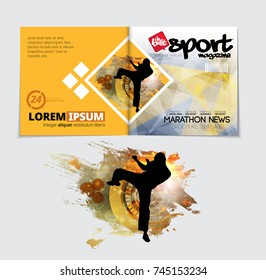 Sport Magazine Cover Vector Template