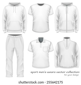 Sport men's wear collection. Vector illustration