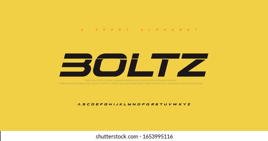 Sport Modern Future Italic Alphabet Font. Typography urban style fonts for technology, digital, movie logo italic style. vector illustration - Shutterstock ID 1653995116