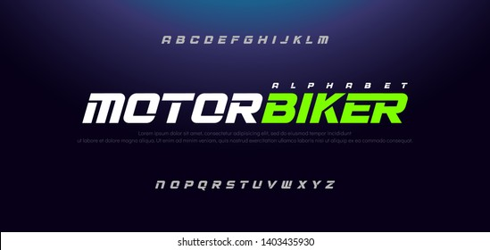 Sport Modern Italic Alphabet Font. Typography urban style fonts for technology, sport, motorcycle, racing logo design. vector illustration