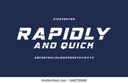 Sport Modern Italic Alphabet Font. Typography urban style vector illustration.