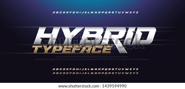 Sport Modern Italic Alphabet Gold Font. Typography 3D urban style silver and golden fonts for technology, digital, movie logo design. vector illustration