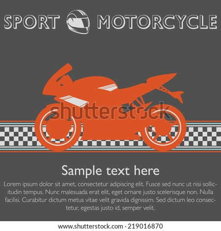 sport motorcycle flyer template stock vector royalty free