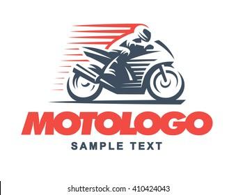 Sport motorcycle  logo illustration.