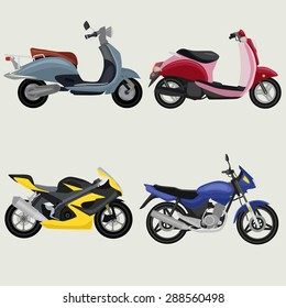 Sport Motorcycles image design set  for your creative needs.