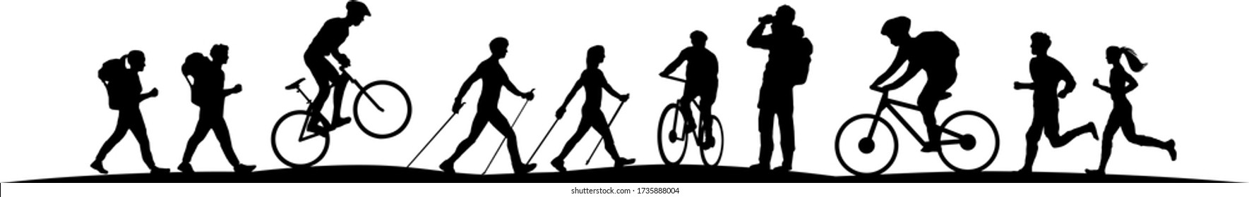 Sport Outdoor Nature Silhouette Vector