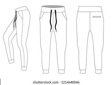 Sport pants, vector