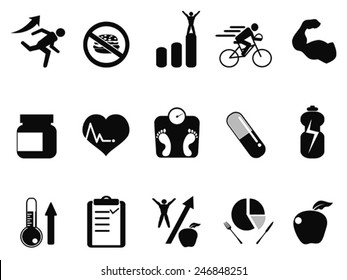 sport performance icons set