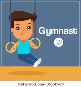 Sport Player : Gymnast : Vector Illustration