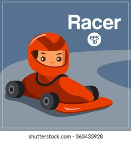 Sport Player : Racer : Vector Illustration