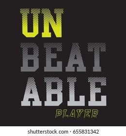 Sport player typography , tee shirt graphics, vectors