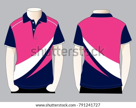 d8a678178 Royalty-free stock vector images ID: 791241727. Sport polo shirt design  (Front and back views) - Vector