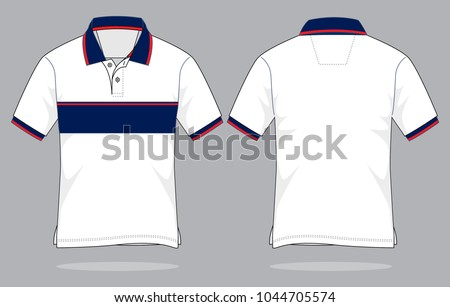 66d17506b ... Vector (Royalty Free) 1044705574 - Shutterstock. Sport Polo Shirt design  (White/Navy/Red)