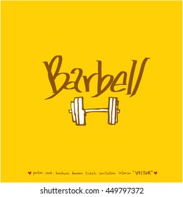 Sport poster / Hand drawn sports illustration - vector