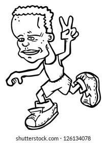 Sport runner character