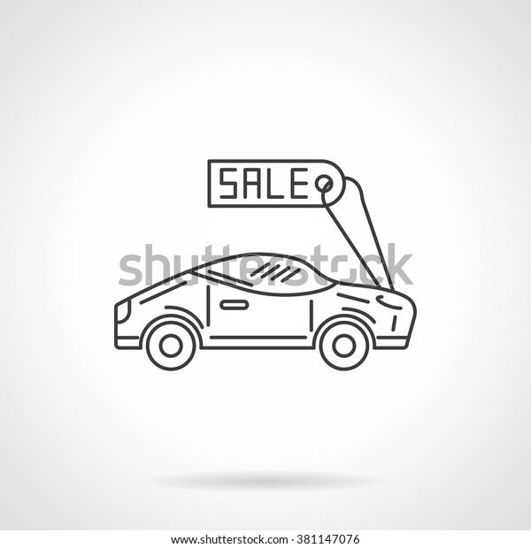 Sports Cars For Sale >> Sport Sedan Car Sale Tag Selling Arkistovektori