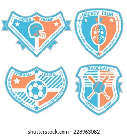 SPORT SHIELD AND EMBLEMS 3