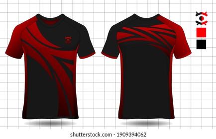 sport shirt template set ,T-shirt sport design ,Vector Soccer jersey mock up, football uniform sport shirt front and back model.