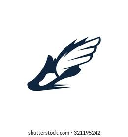 Sport shoe symbol, icon or logo.