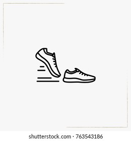 sport shoes line icon