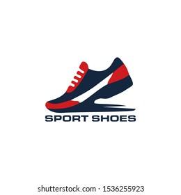 Sport shoes logo. Vector illustration