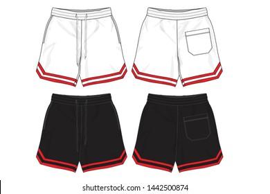 sport shorts design template , Basketball Shorts , Fashion Shorts