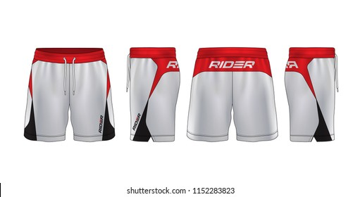 sport shorts design template,pants fashion vector illustration.