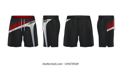 sport shorts design template,pants fashion vector illustration.