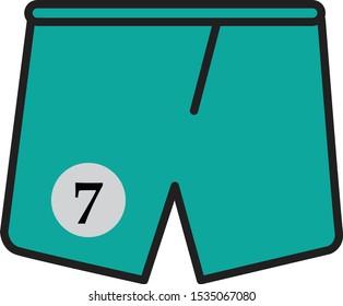 sport shorts design template,pants vector illustration.