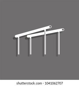 Sport signs. Gymnastics. Uneven Bars. Vector icon.