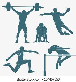 Sport silhouettes - vector illustration