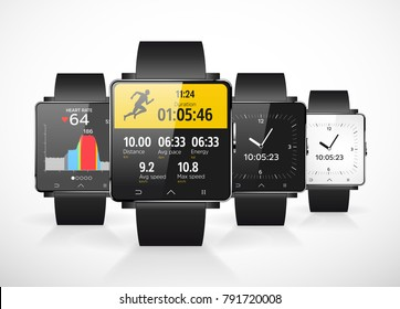 Sport smartwatch for runners - mobile app