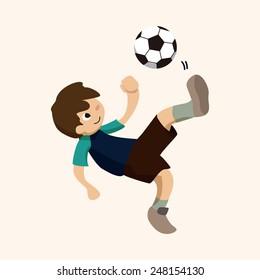 Sport soccer player theme elements vector,eps