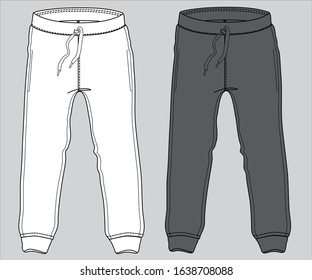 Sport suits design template, sweatpant, jogging