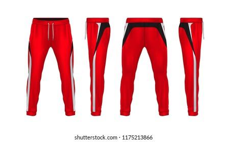 sport sweatpants design templatepants fashion vector illustrationfitness leggings