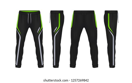sport sweatpants design template,pants fashion vector illustration,fitness leggings.