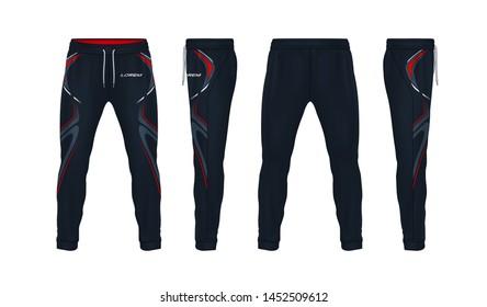 sport sweatpants design template,pants fashion vector illustration,fitness leggings.