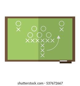sport tactics chalkboard american football