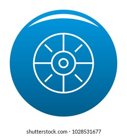 Sport target icon vector blue circle isolated on white background