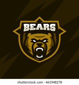 Sport team Bears logo emblem