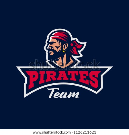 sport team logo template image bearded stock vector royalty free