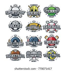 Sport team logo vector