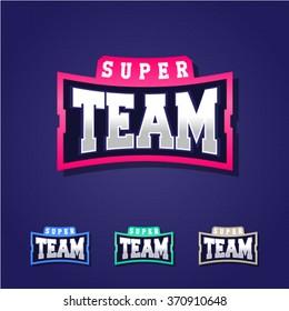Sport team power full typography, t-shirt graphics, vectors
