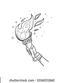 Sport torchbearer sketch