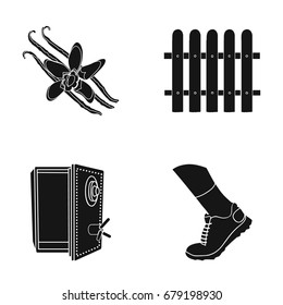 sport, tourism, business and other web icon in black style.storage, foot, running, icons in set collection.