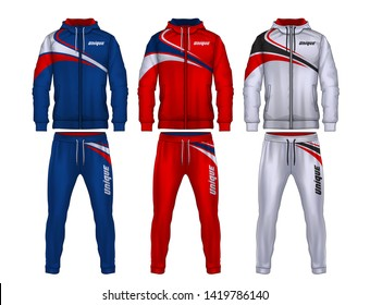 5ec0de15b1e sport track suit design template,jacket and trousers vector illustration,